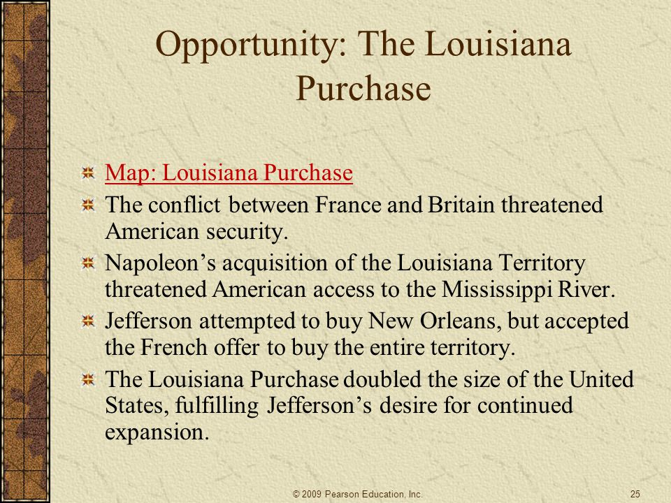 Opportunity: The Louisiana Purchase