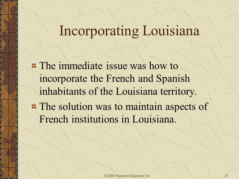 Incorporating Louisiana