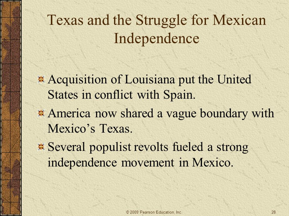 Texas and the Struggle for Mexican Independence
