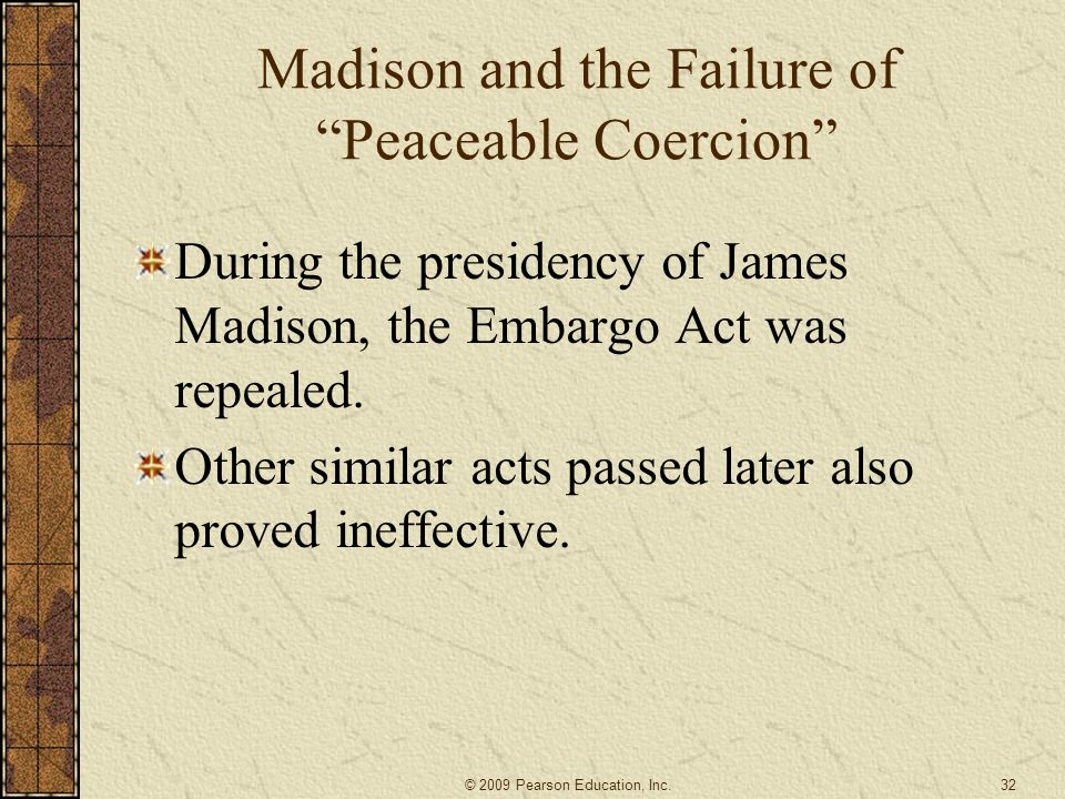 Madison and the Failure of Peaceable Coercion