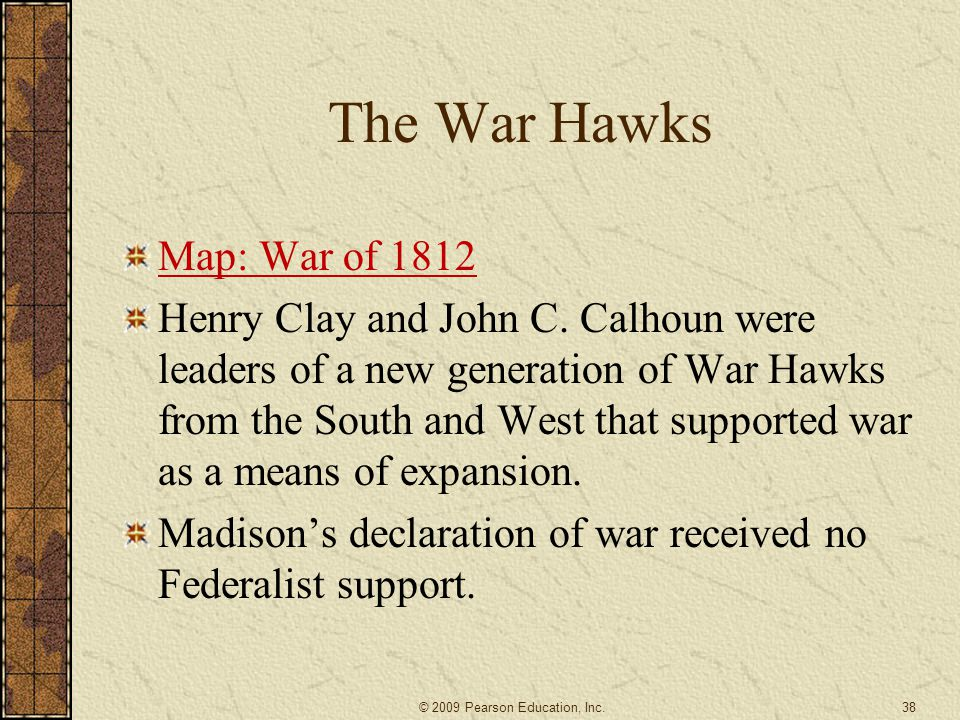The War Hawks Map: War of 1812