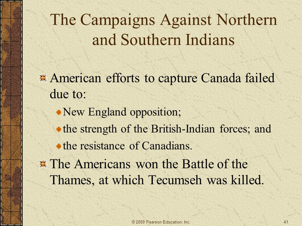 The Campaigns Against Northern and Southern Indians
