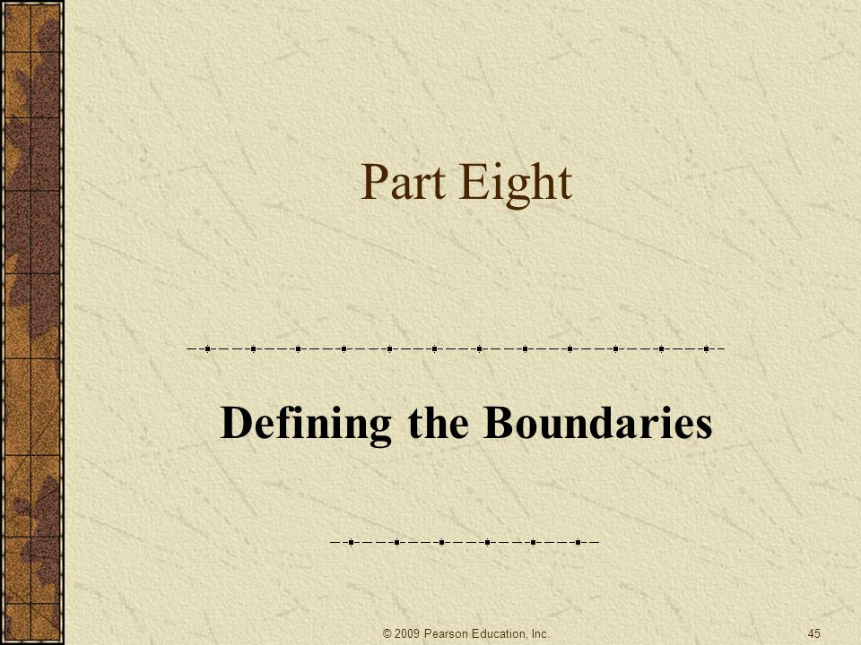Defining the Boundaries