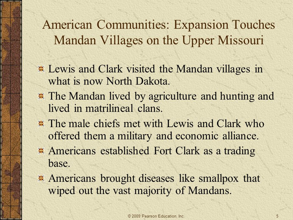 American Communities: Expansion Touches Mandan Villages on the Upper Missouri