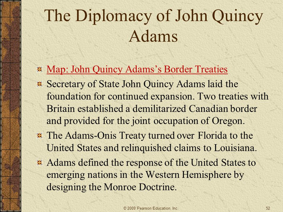 The Diplomacy of John Quincy Adams