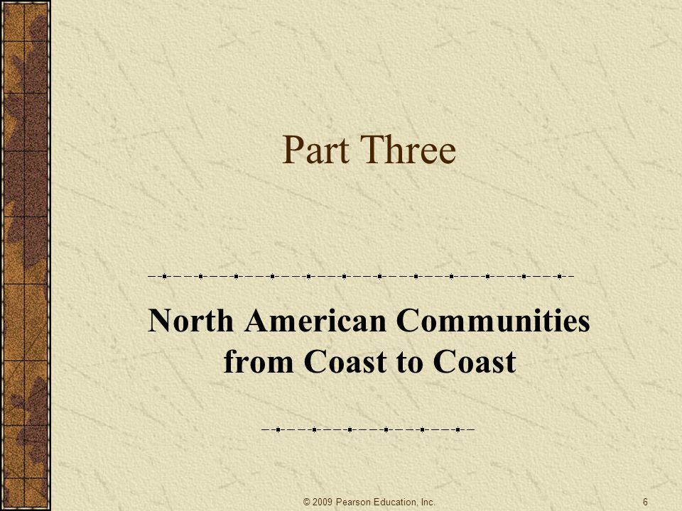 North American Communities from Coast to Coast