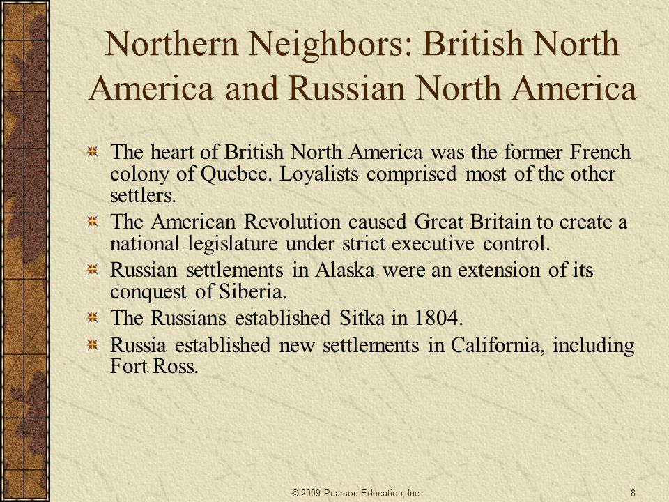 Northern Neighbors: British North America and Russian North America