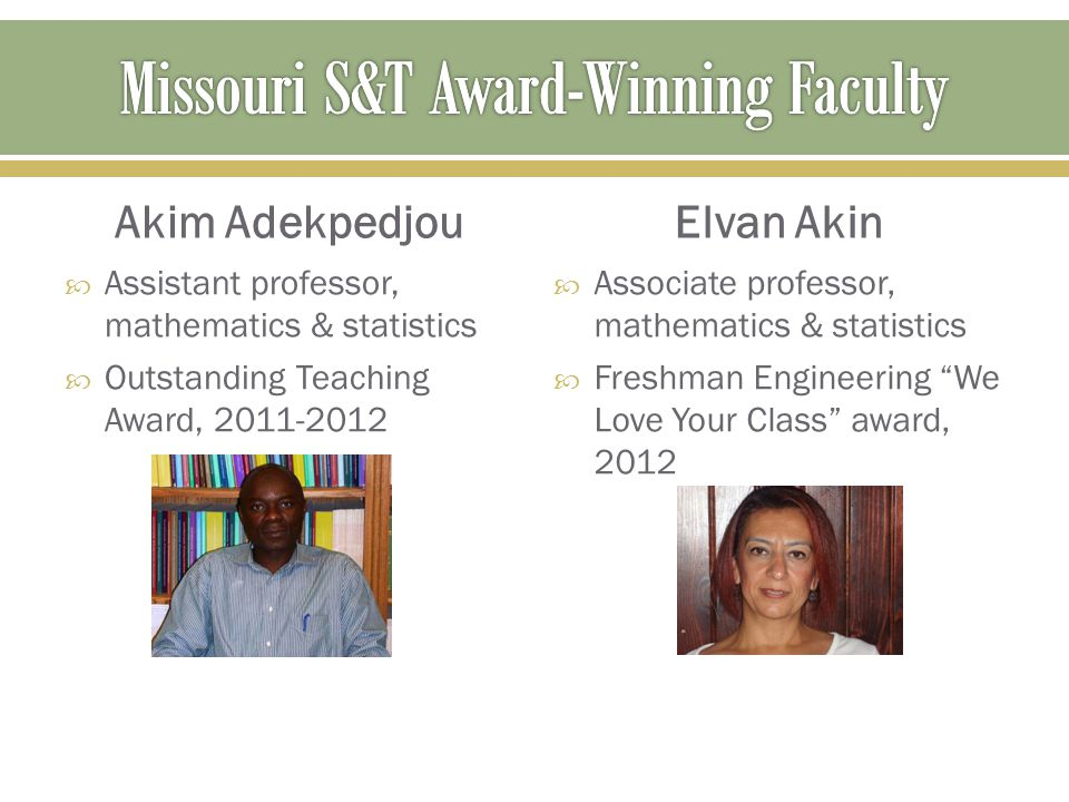 Missouri S&T Award-Winning Faculty