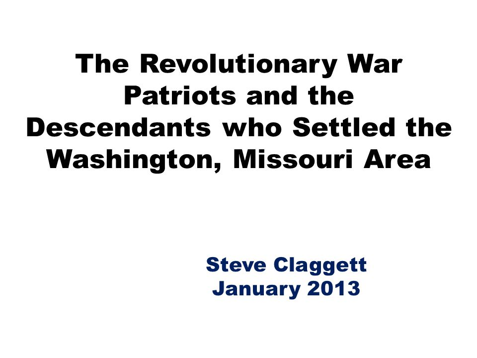 Steve Claggett January 2013