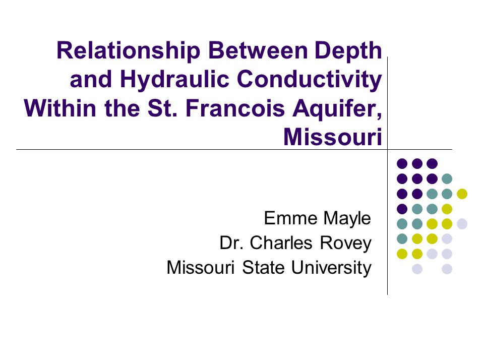 Emme Mayle Dr. Charles Rovey Missouri State University