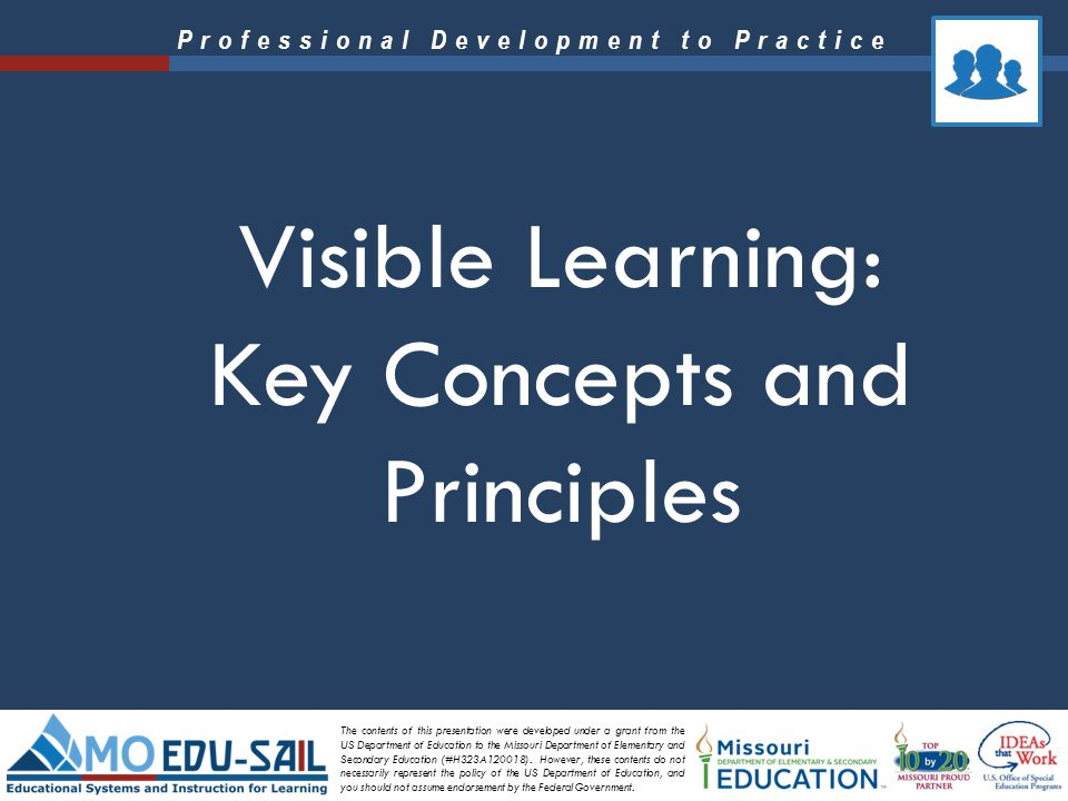 Visible Learning: Key Concepts and Principles