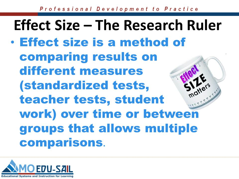 Effect Size – The Research Ruler