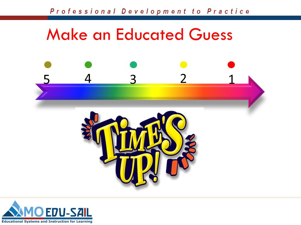 Make an Educated Guess 5. 4. 3. 2. 1. Click timer arrow to start.