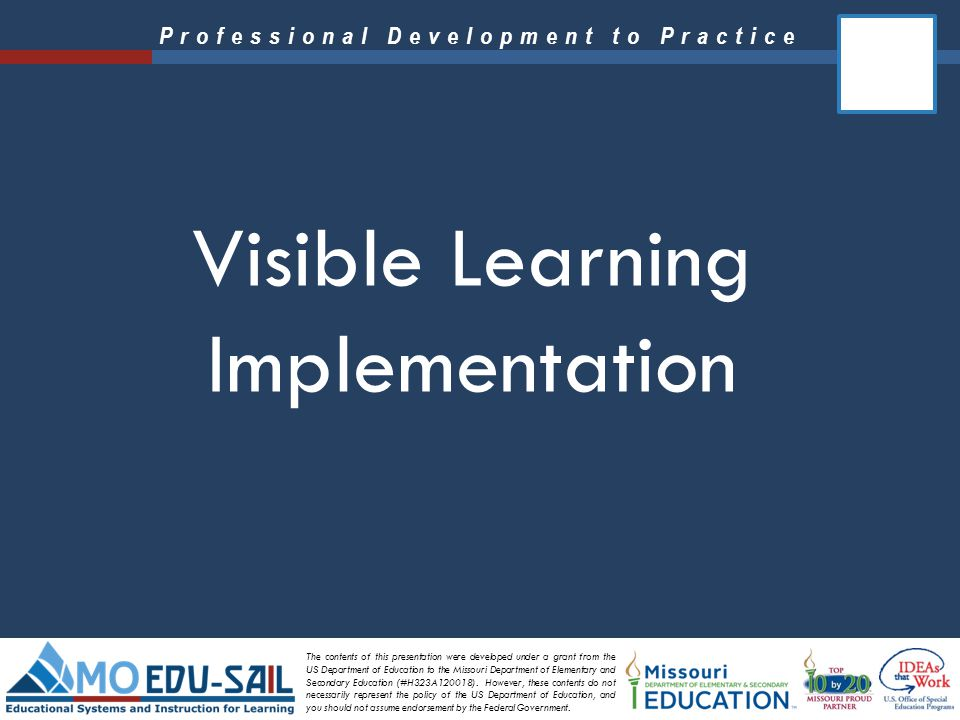 Visible Learning Implementation