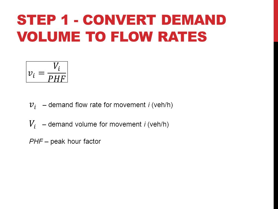 STEP 1 - Convert demand volume to flow rates