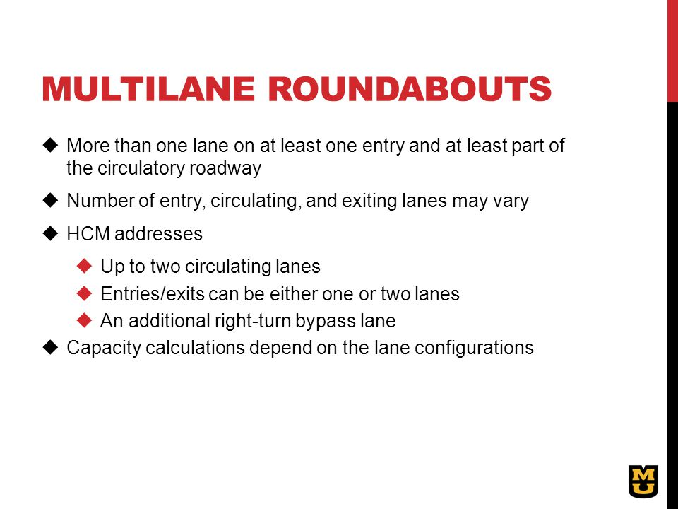 Multilane roundabouts