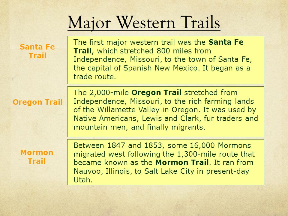 Major Western Trails