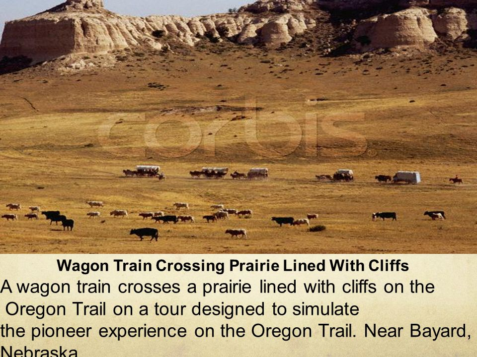 Oregon Trail on a tour designed to simulate