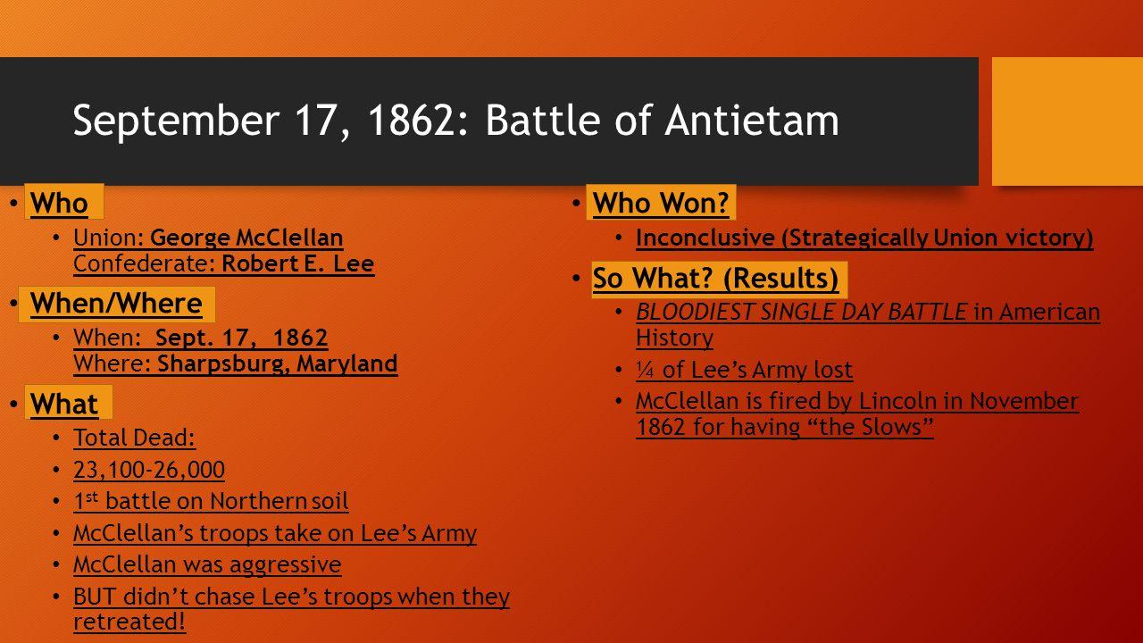 September 17, 1862: Battle of Antietam