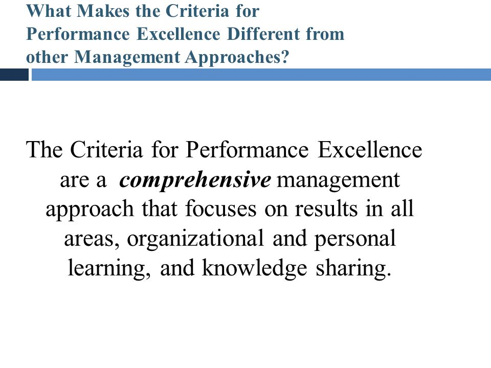 What Makes the Criteria for