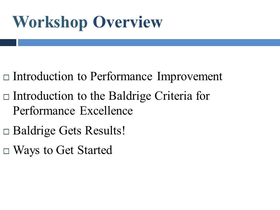 Workshop Overview Workshop Overview