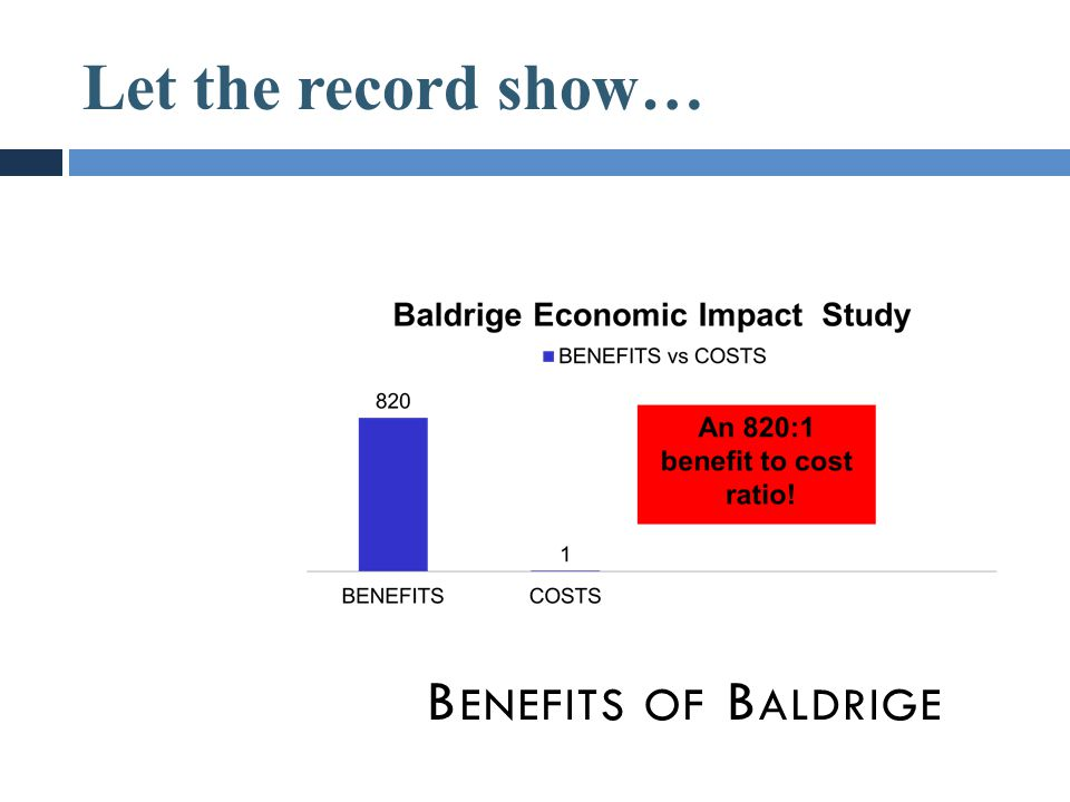 Let the record show… Benefits of Baldrige