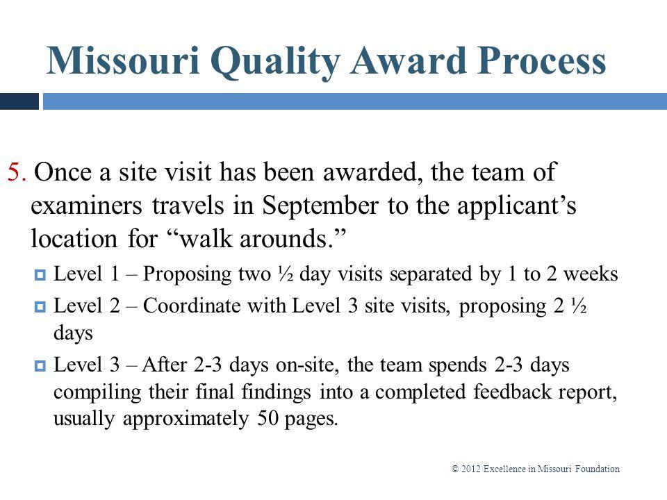 Missouri Quality Award Process