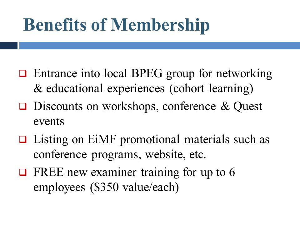 Benefits of Membership