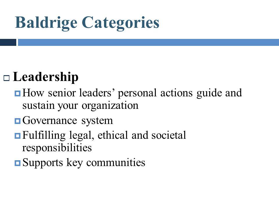 Baldrige Categories Leadership
