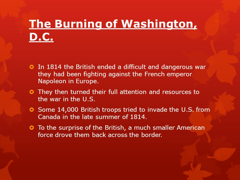 The Burning of Washington, D.C.