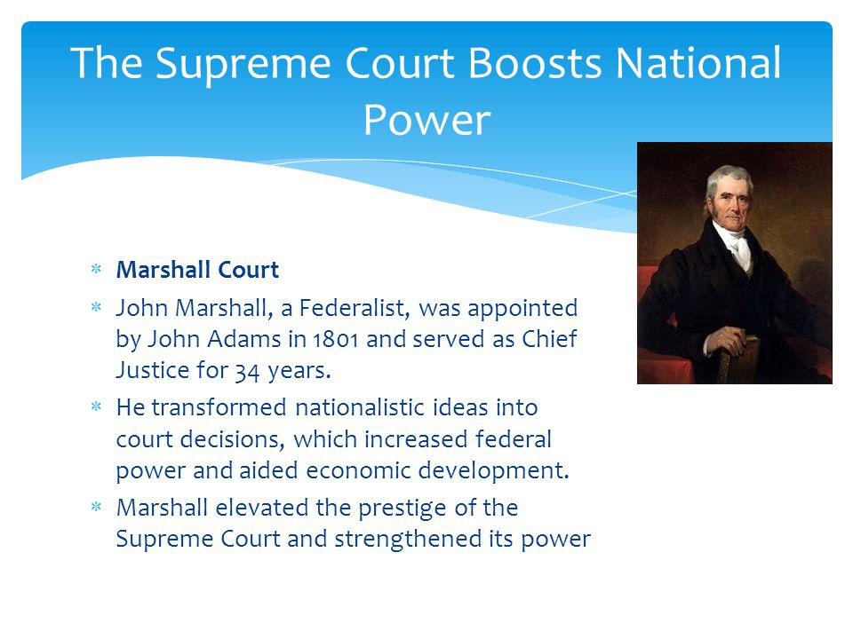 The Supreme Court Boosts National Power