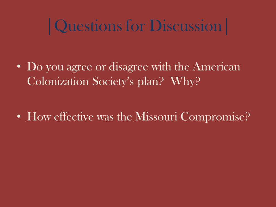 |Questions for Discussion|