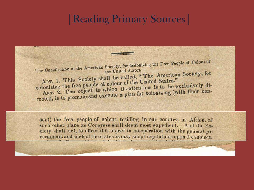 |Reading Primary Sources|