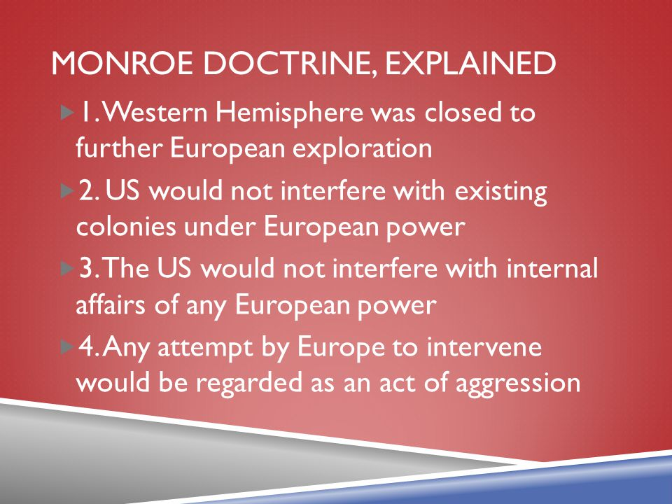 MONROE DOCTRINE, explained