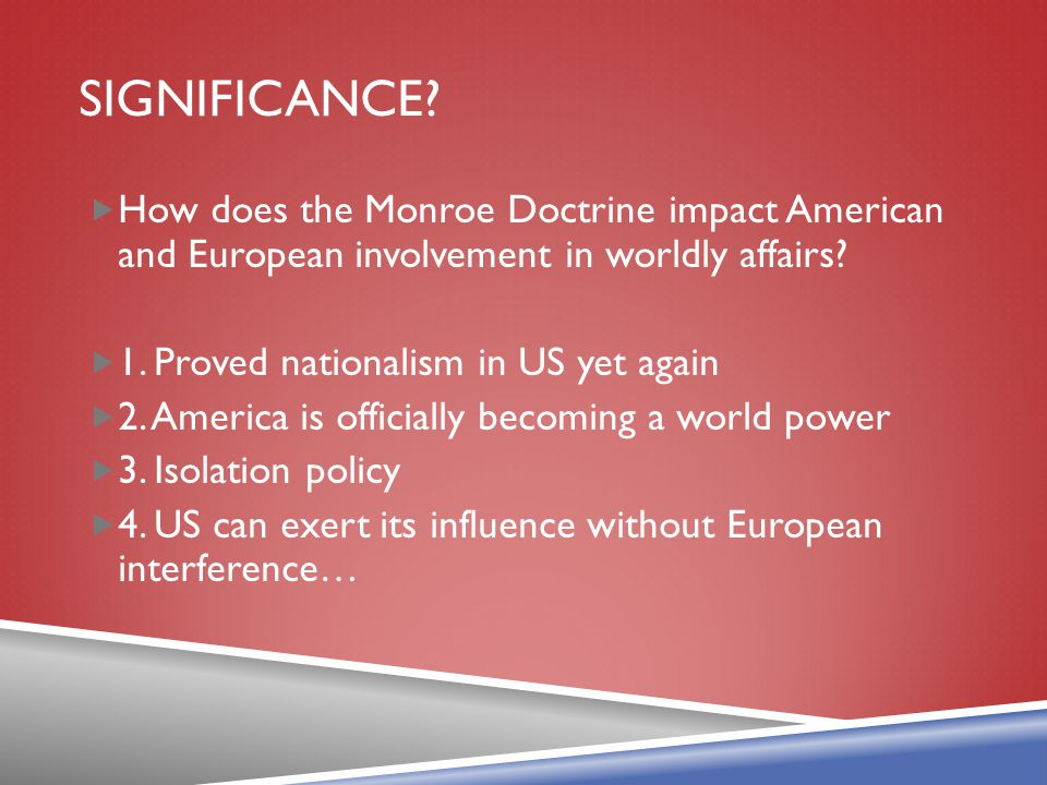 the importance of the monroe doctrine in america