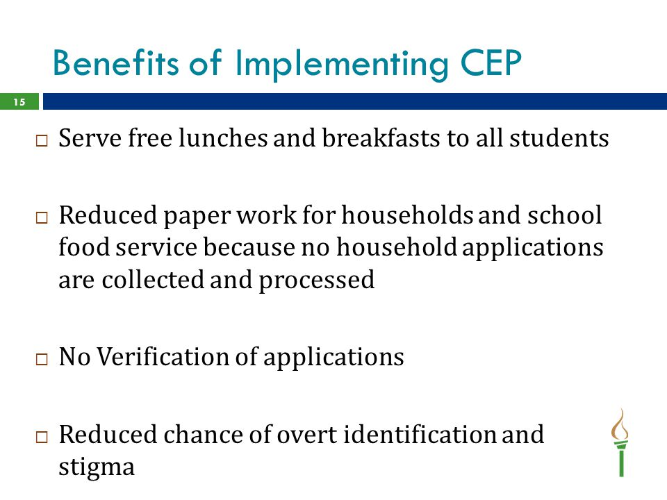 Benefits of Implementing CEP