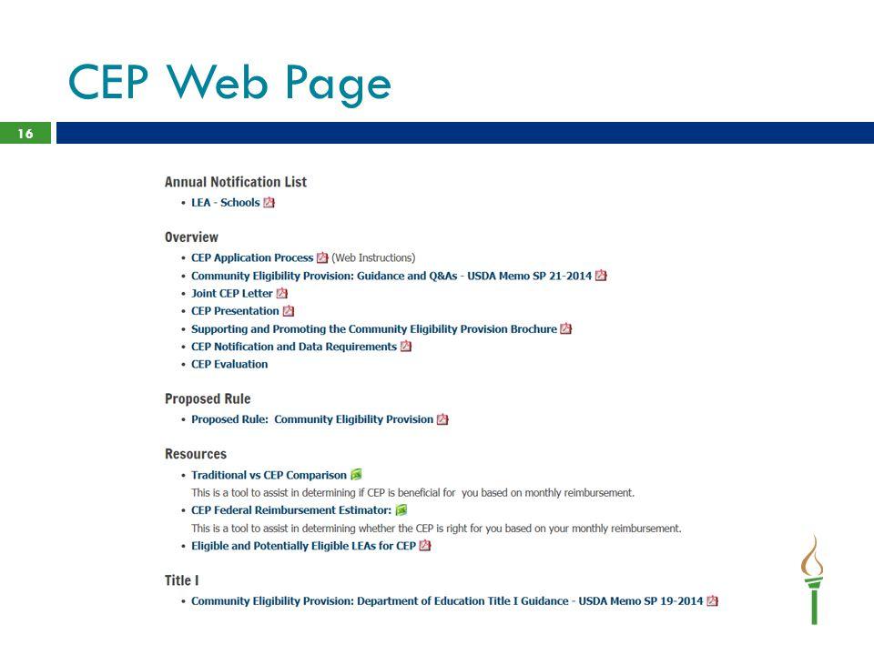 CEP Web Page