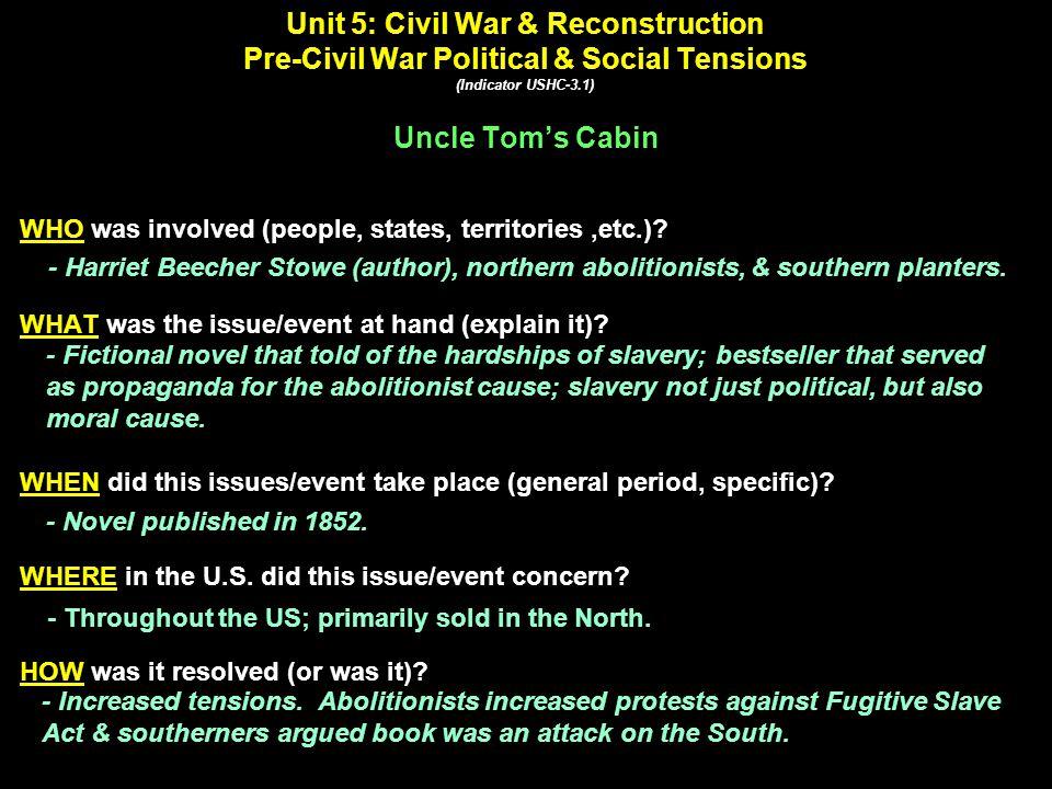 Uncle Tom's Cabin Harriet Beecher Stowe