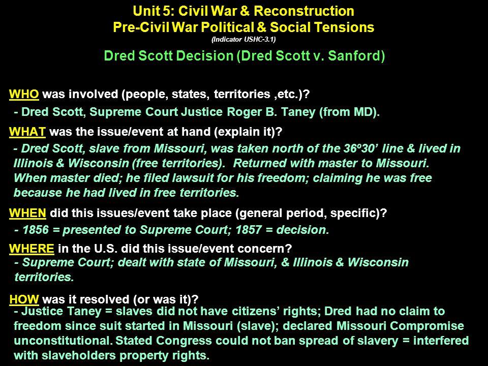Dred Scott v. Sanford (1857) Dred Scott Supreme Court Justice