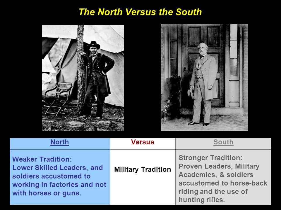 The North Versus the South