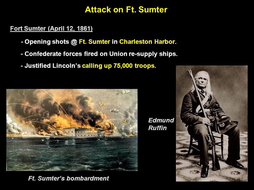 Ft. Sumter Prior to the Opening Shots of the War: 1861