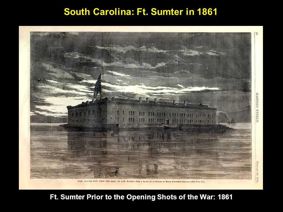 Ruins of Ft. Sumter following Union bombardment: 1865