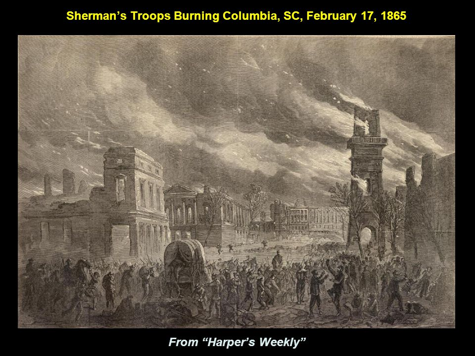 Ruins of Columbia, SC as seen from the Capital: 1865