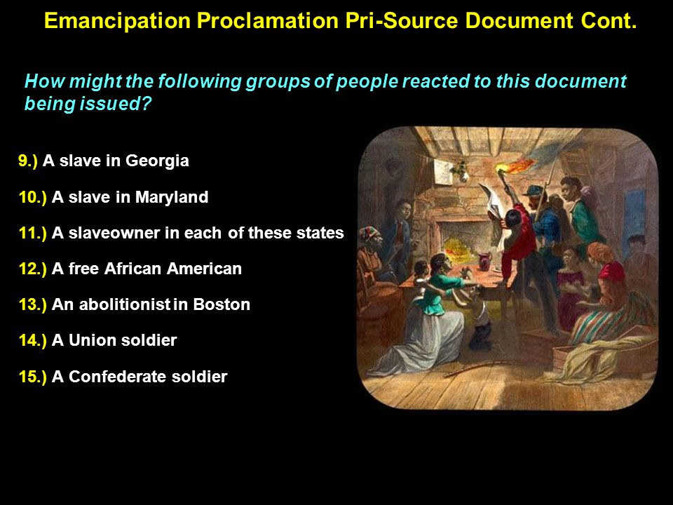 Emancipation Proclamation's Coverage