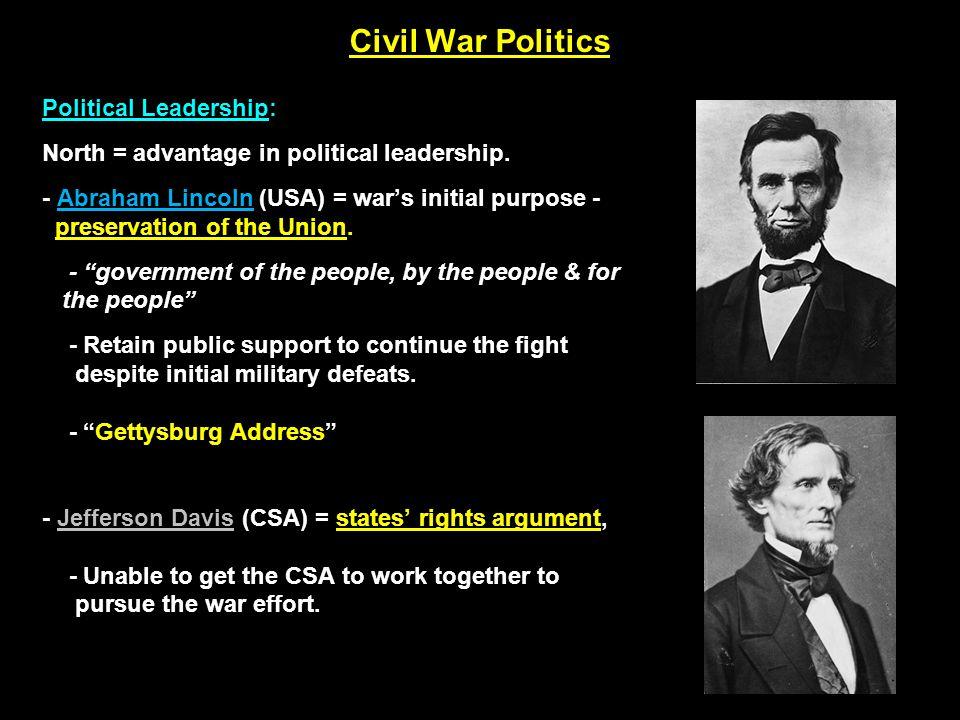 Civil War Politics Lincoln's Legal Actions (1861):