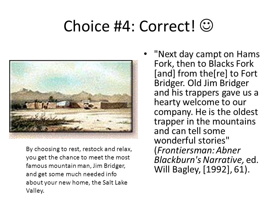 Choice #4: Correct! 