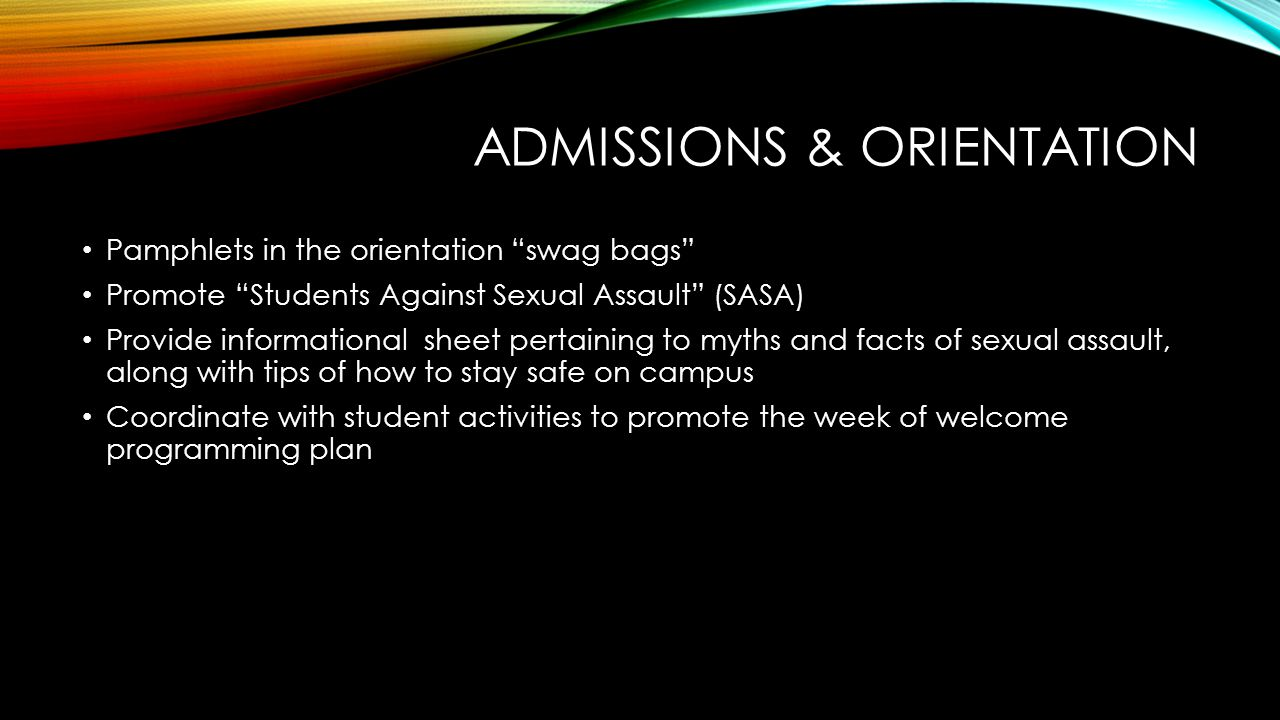 Admissions & orientation