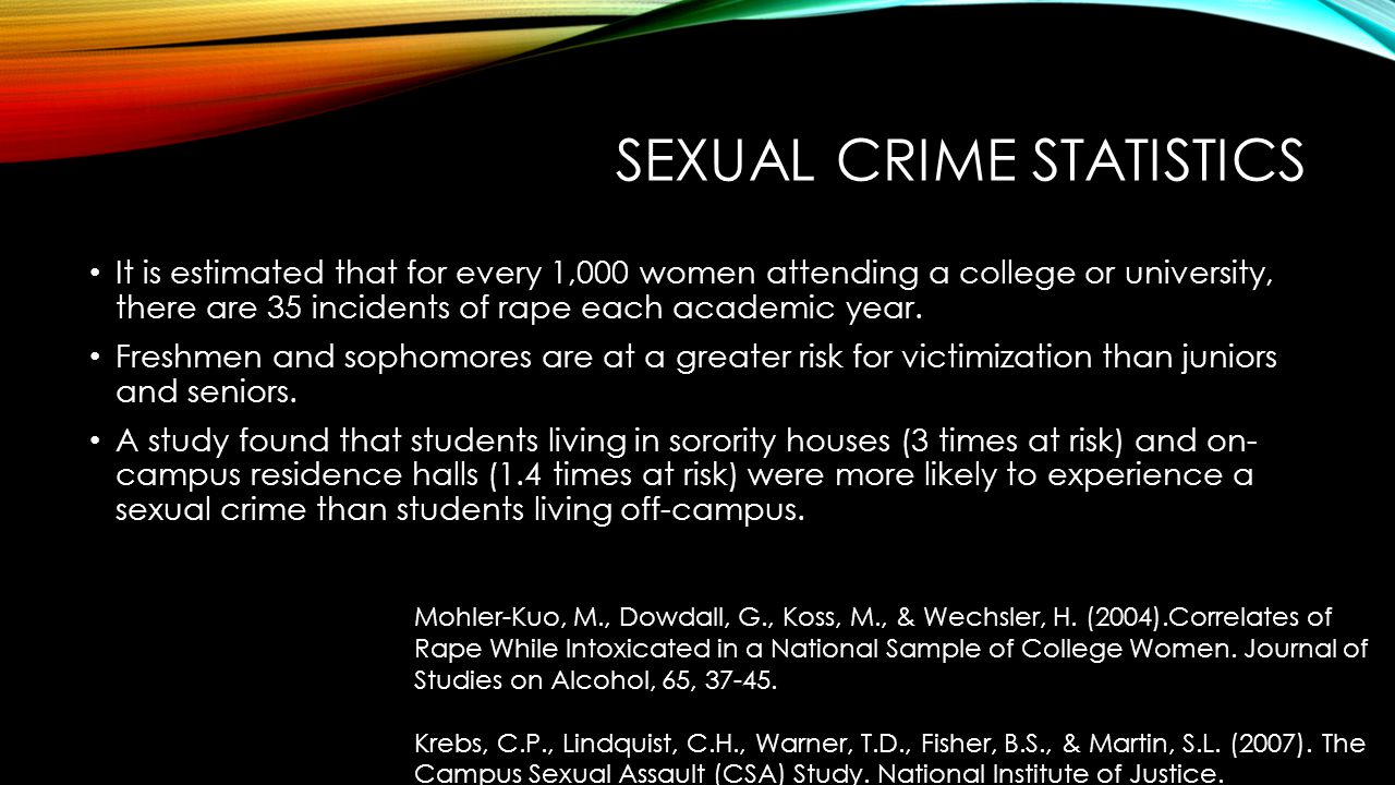 Sexual crime statistics