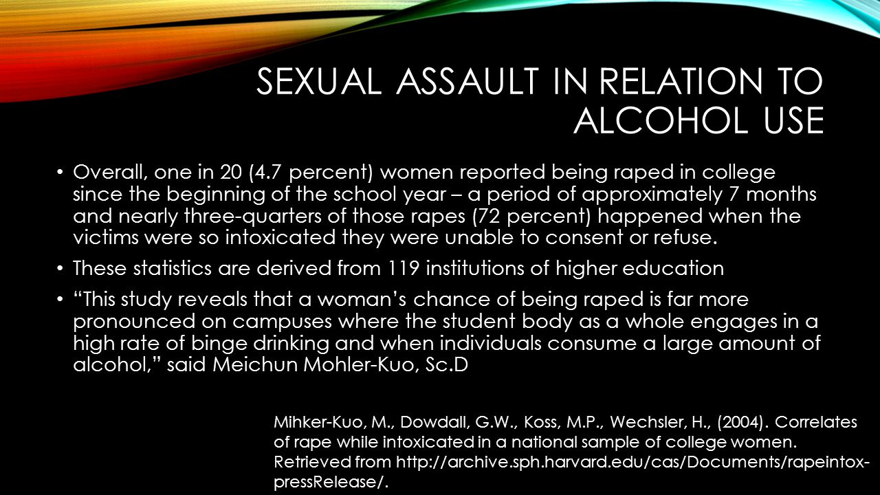 Sexual Assault in Relation To Alcohol Use