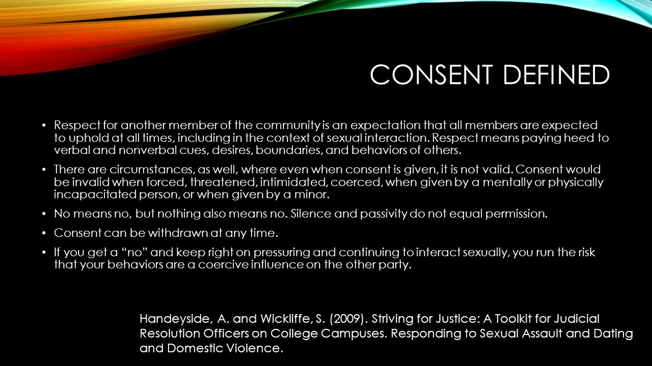 Consent Defined